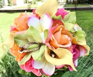 tropical artificial wedding bouquets