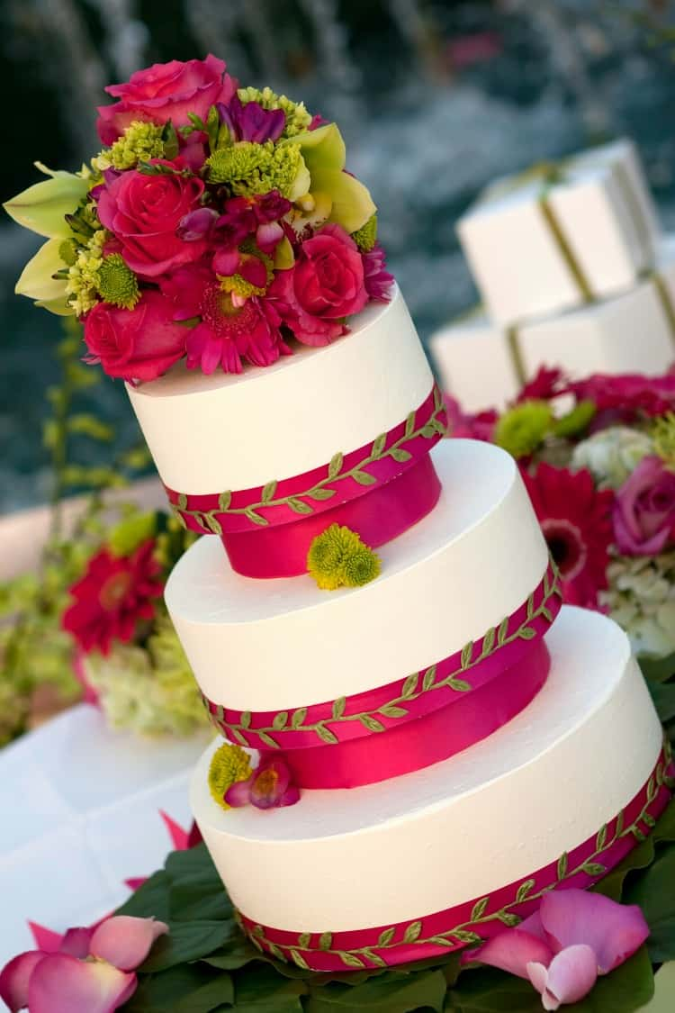 tropical beach wedding cakes