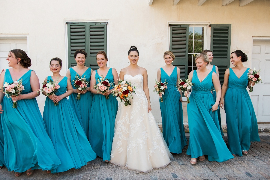 turquoise beach bridesmaid dresses