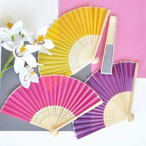 wedding fan favors