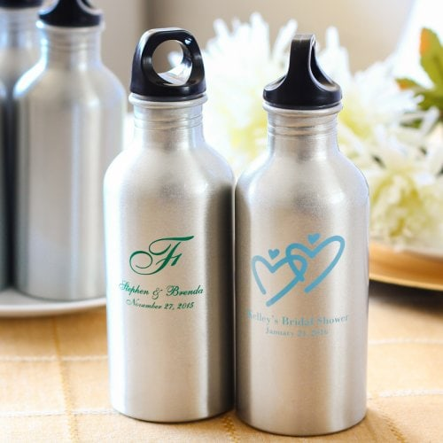 wedding favors personalized water bottles