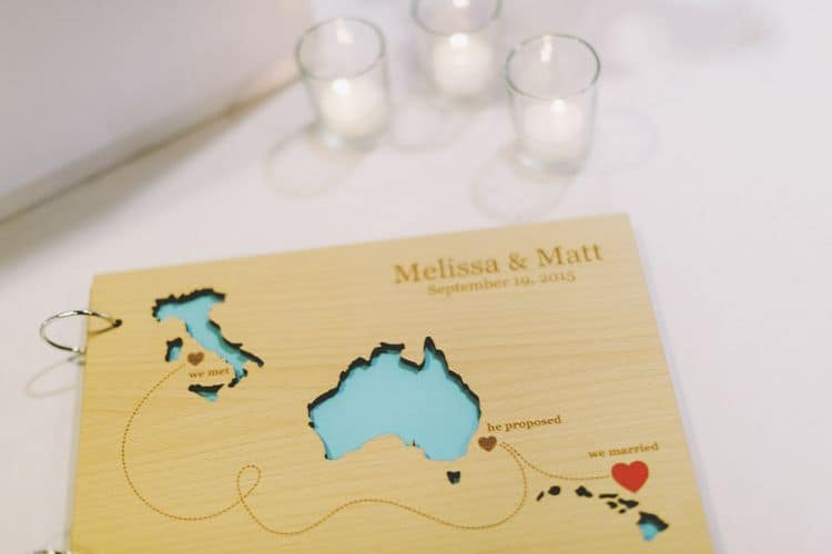 Destination wedding guestbook alternative