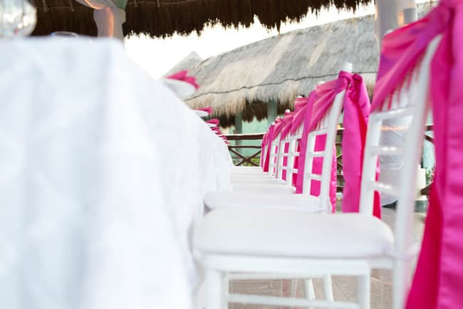 Turquoise and Pink Wedding at the Grand Palladium Kantenah in Riviera Maya